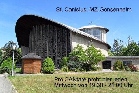 Per Klick siehst Du, wie Du nach St. Petrus Canisius in Gonsenheim kommst. Wir proben im Bonifatius-Gemeinderaum - rechts neben der Kirche.